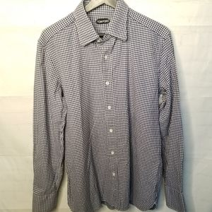 Tom Ford check cotton dress shirt